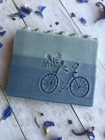 Good Vibes~ Uplifting Lime with Beach Sand Organic Soap