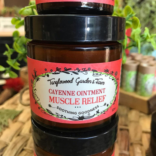Cayenne Ointment Muscle Relief ~Organic Rub