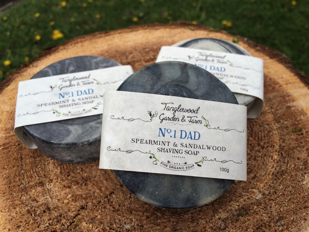No.1 DAD~ Spearmint & Sandalwood Organic Shaving Soap