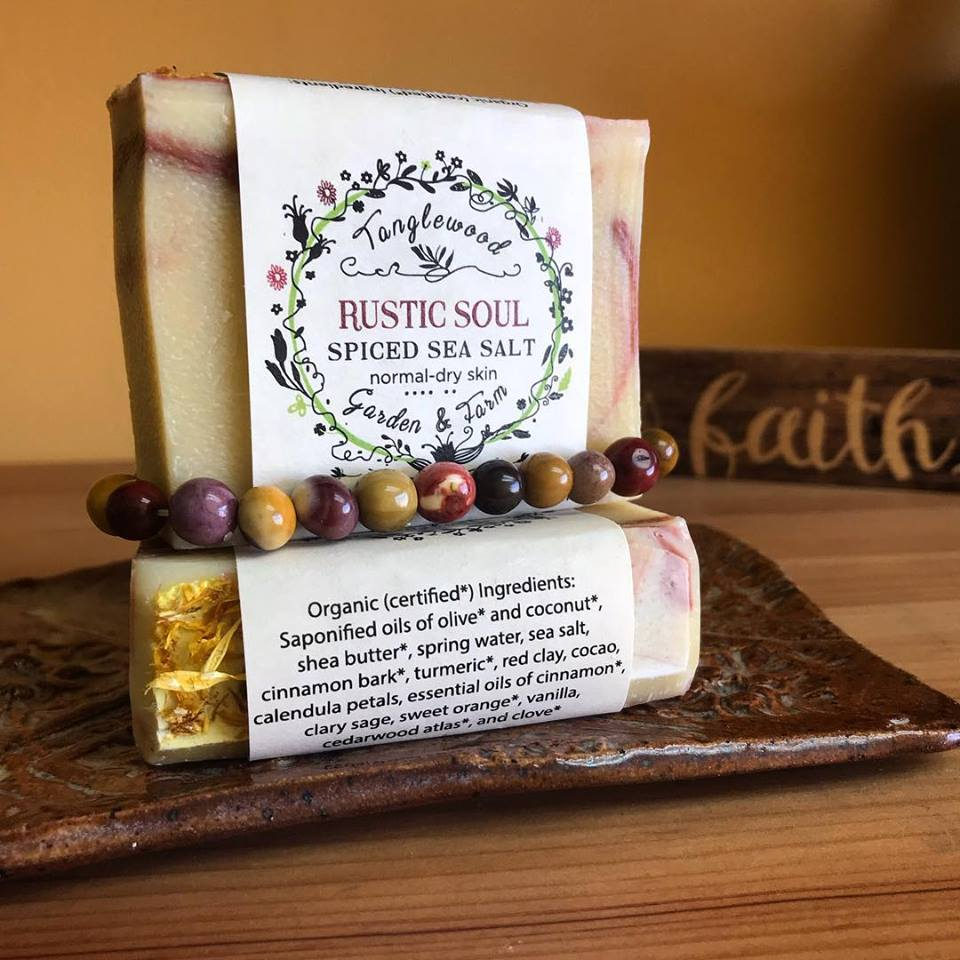 Rustic Soul~ Spicy Cinnamon Organic Sea Salt Soap