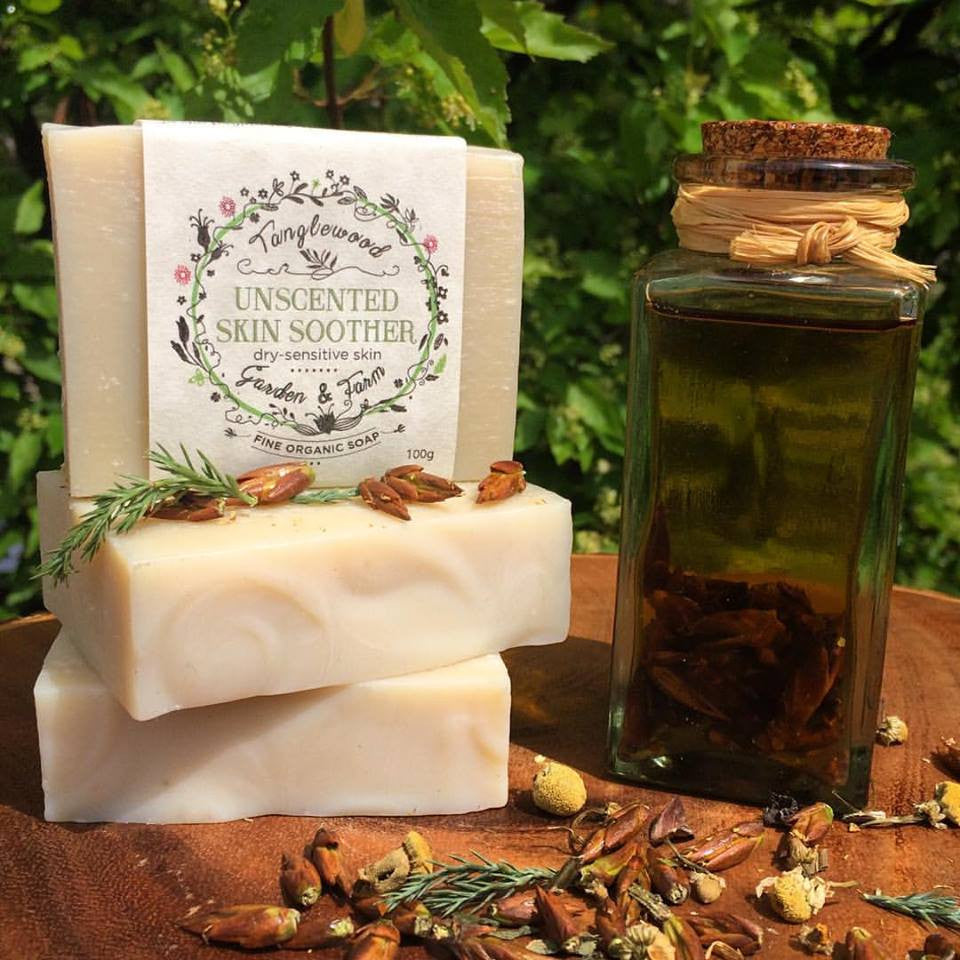 Canadian Herbal Unscented Skin Soother~ Organic Soap