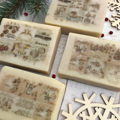 Vintage Christmas Soap~ Holiday Spice cinnamon soap
