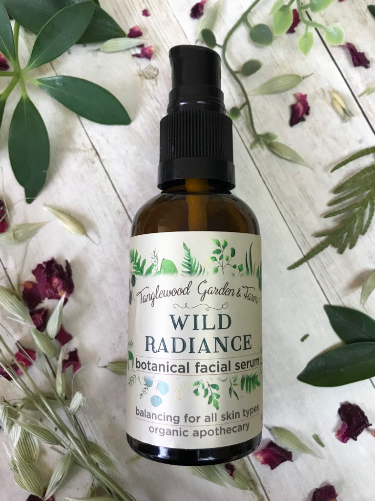 New! Wild Radiance~ Organic Facial Serum 50ml glass bottle