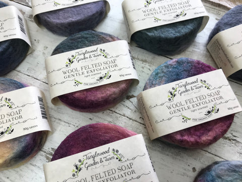 Wool Felted Soap