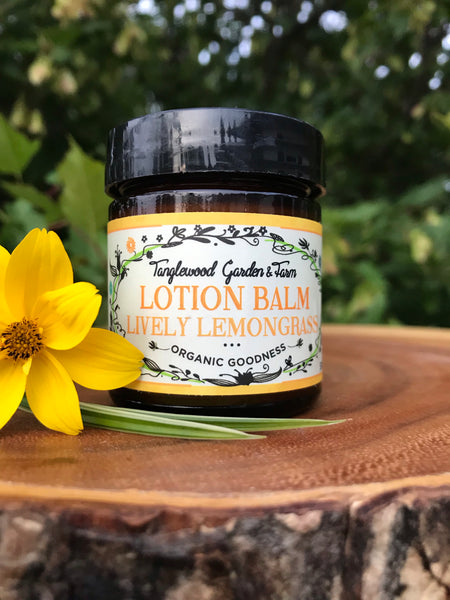 Lotion Balm ~Lively Lemongrass organic goodness