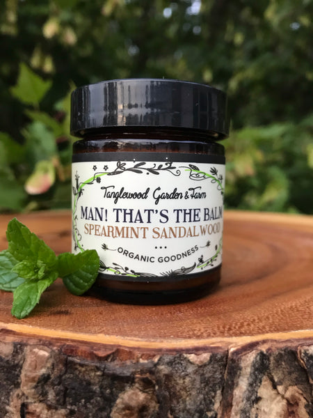 Lotion Balm~ Man! That's the Balm!~ Spearmint & Sandalwood Organic Lotion for Guys & Gals