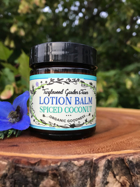 Lotion Balm~ Spiced Coconut organic goodness