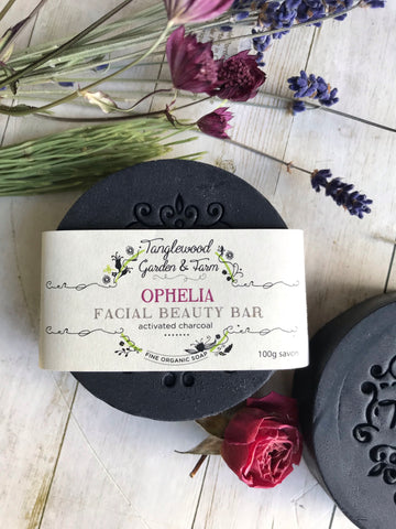 Ophelia~ Organic Charcoal Facial Beauty Bar Soap