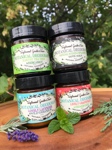 Natural Deodorant in 50ml Frosted Glass Jar~ Toxin Free, Organic, and Effective!
