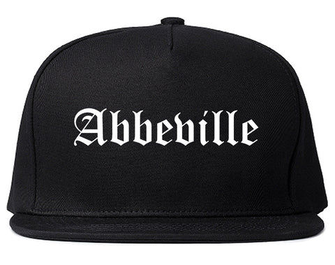 Abbeville Louisiana LA Old English Mens Snapback Hat Black
