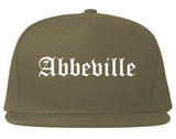 Abbeville Louisiana LA Old English Mens Snapback Hat Grey