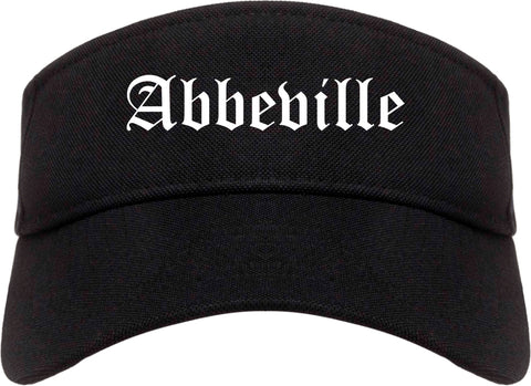 Abbeville Louisiana LA Old English Mens Visor Cap Hat Black