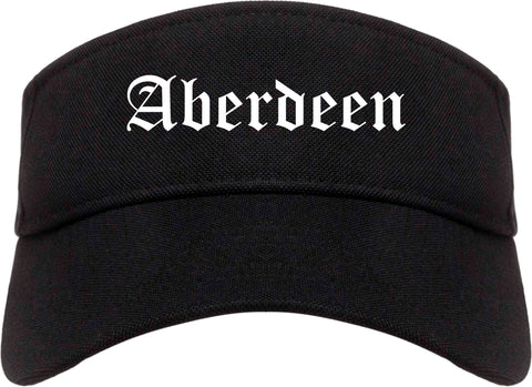 Aberdeen Maryland MD Old English Mens Visor Cap Hat Black