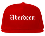 Aberdeen North Carolina NC Old English Mens Snapback Hat Red