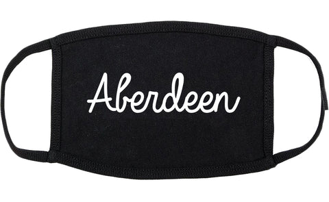 Aberdeen South Dakota SD Script Cotton Face Mask Black
