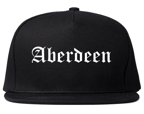 Aberdeen Washington WA Old English Mens Snapback Hat Black