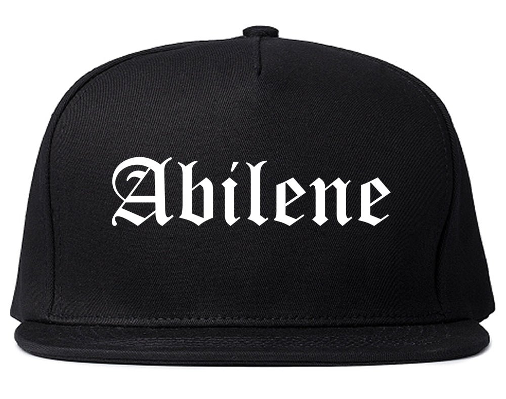 Abilene Kansas KS Old English Mens Snapback Hat Black