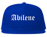Abilene Kansas KS Old English Mens Snapback Hat Royal Blue