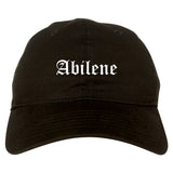 Abilene Kansas KS Old English Mens Dad Hat Baseball Cap Black