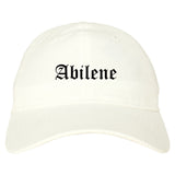 Abilene Kansas KS Old English Mens Dad Hat Baseball Cap White