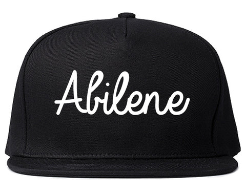 Abilene Kansas KS Script Mens Snapback Hat Black