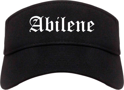 Abilene Kansas KS Old English Mens Visor Cap Hat Black