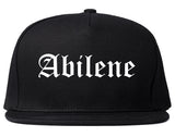 Abilene Texas TX Old English Mens Snapback Hat Black