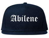 Abilene Texas TX Old English Mens Snapback Hat Navy Blue