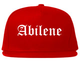 Abilene Texas TX Old English Mens Snapback Hat Red