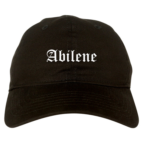 Abilene Texas TX Old English Mens Dad Hat Baseball Cap Black