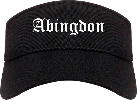 Abingdon Virginia VA Old English Mens Visor Cap Hat Black