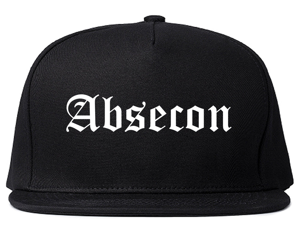 Absecon New Jersey NJ Old English Mens Snapback Hat Black