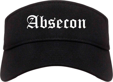 Absecon New Jersey NJ Old English Mens Visor Cap Hat Black