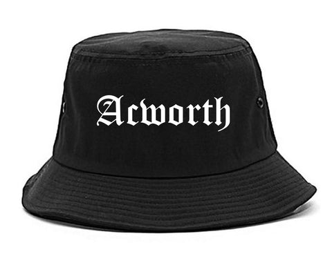 Acworth Georgia GA Old English Mens Bucket Hat Black