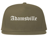 Adamsville Alabama AL Old English Mens Snapback Hat Grey