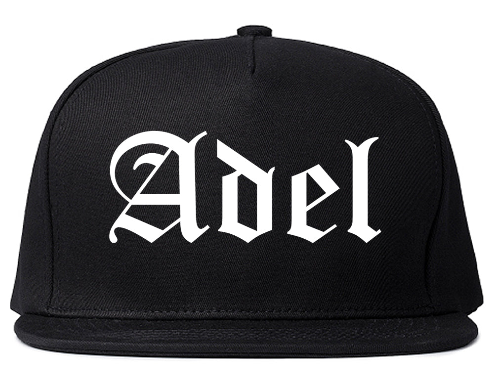 Adel Georgia GA Old English Mens Snapback Hat Black