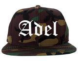 Adel Georgia GA Old English Mens Snapback Hat Army Camo