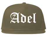 Adel Georgia GA Old English Mens Snapback Hat Grey