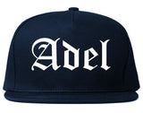 Adel Georgia GA Old English Mens Snapback Hat Navy Blue