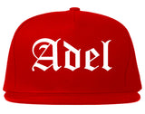 Adel Georgia GA Old English Mens Snapback Hat Red