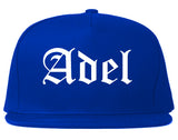 Adel Georgia GA Old English Mens Snapback Hat Royal Blue