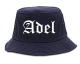 Adel Georgia GA Old English Mens Bucket Hat Navy Blue