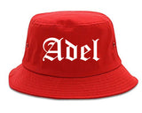Adel Georgia GA Old English Mens Bucket Hat Red
