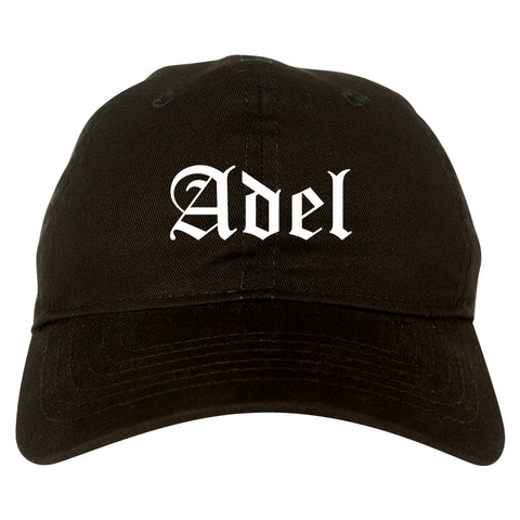 Adel Georgia GA Old English Mens Dad Hat Baseball Cap Black