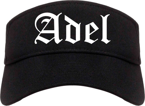 Adel Georgia GA Old English Mens Visor Cap Hat Black