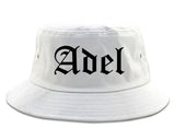 Adel Georgia GA Old English Mens Bucket Hat White