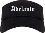 Adelanto California CA Old English Mens Visor Cap Hat Black