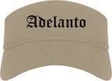 Adelanto California CA Old English Mens Visor Cap Hat Khaki