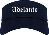 Adelanto California CA Old English Mens Visor Cap Hat Navy Blue
