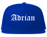 Adrian Michigan MI Old English Mens Snapback Hat Royal Blue